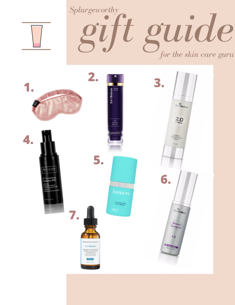 collage of Skin Care Gift Guide